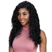 Glamourtress, wigs, weaves, braids, half wigs, full cap, lace front, hair extension, Brazilian hair, crochet, hairdo, wig tape, remy hair, Lace Front Wigs, Bohemian Natural Hairline Premium Melt Down Lace Wig - MDL Wet N Wave