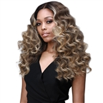 Glamourtress, wigs, weaves, braids, half wigs, full cap, hair, lace front, hair extension, nicki minaj style, Brazilian hair, crochet, hairdo, wig tape, remy hair, Lace Front Wigs, Bobbi Boss Synthetic Hair 5 inch Deep Part Lace Front Wig - MLF385 JOURNEY