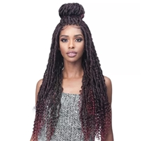 Glamourtress, wigs, weaves, braids, half wigs, full cap, hair, lace front, hair extension, nicki minaj style, Brazilian hair, crochet, hairdo, wig tape, remy hair, Lace Front Wigs,Bobbi Boss Faux Loc Curly Lace Front Wig MLF519 ZALA