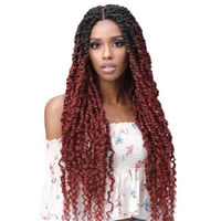 Glamourtress, wigs, weaves, braids, half wigs, full cap, hair, lace front, hair extension, nicki minaj style, Brazilian hair, crochet, hairdo, wig tape, remy hair, Lace Front Wigs, Bobbi Boss Premium Synthetic Hand Braided 4x4 Lace Front Wig - MLF517 SPRI