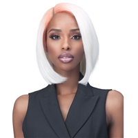 Glamourtress, wigs, weaves, braids, half wigs, full cap, hair, lace front, hair extension, nicki minaj style, Brazilian hair, crochet, hairdo, wig tape, remy hair, Bobbi Boss Synthetic Hair 4x4 HD Frontal Lace Wig - MLF441 LEVI