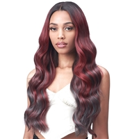 "Glamourtress, wigs, weaves, braids, half wigs, full cap, hair, lace front, hair extension, nicki minaj style, Brazilian hair, crochet, hairdo, wig tape, remy hair, Bobbi Boss Synthetic Hair 5"" Deep Part Lace Front Wig - MLF554 ROSEWOOD"