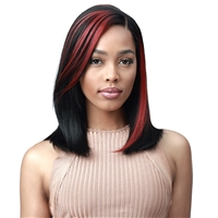 "Glamourtress, wigs, weaves, braids, half wigs, full cap, hair, lace front, hair extension, nicki minaj style, Brazilian hair, crochet, hairdo, wig tape, remy hair, Bobbi Boss Synthetic 4"" Deep Part Lace Front Wig - MLF555 SHAVANA"