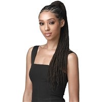 Glamourtress, wigs, weaves, braids, half wigs, full cap, hair, lace front, hair extension, nicki minaj style, Brazilian hair, crochet, hairdo, wig tape, remy hair, Lace Front Wigs, Bobbi Boss Up Synthetic Wrap Around Ponytail - BOX BRAID 24