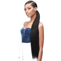 Glamourtress, wigs, weaves, braids, half wigs, full cap, hair, lace front, hair extension, nicki minaj style, Brazilian hair, crochet, hairdo, wig tape, remy hair, Lace Front Wigs, Bobbi Boss Up Synthetic Wrap Around Ponytail - SILKY STRAIGHT 30Around Pon