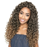 Glamourtress, wigs, weaves, braids, half wigs, full cap, hair, lace front, hair extension, nicki minaj style, Brazilian hair, crochet, hairdo, wig tape, remy hair, Lace Front Wigs, Mane Concept Afri Naptural Caribbean Crochet Braid CB28 - DEEP TWIST 18""