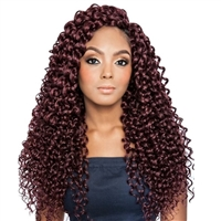 Glamourtress, wigs, weaves, braids, half wigs, full cap, hair, lace front, hair extension, nicki minaj style, Brazilian hair, crochet, hairdo, wig tape, remy hair, Mane Concept Afri Naptural Caribbean Crochet Braid CBP04 - CASCADING RIPPLE 18""