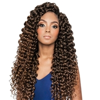 Glamourtress, wigs, weaves, braids, half wigs, full cap, hair, lace front, hair extension, nicki minaj style, Brazilian hair, crochet, hairdo, wig tape, remy hair, Mane Concept Afri Naptural Caribbean Crochet Braid CBP05 - WATER FALL 18""