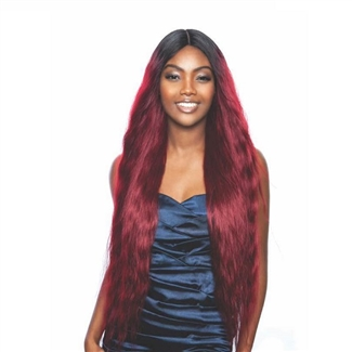 Glamourtress, wigs, weaves, braids, half wigs, full cap, hair, lace front, hair extension, nicki minaj style, Brazilian hair, crochet, hairdo, wig tape, remy hair, Lace Front Wigs, Remy Hair, Mane Concept Brown Sugar Human Hair Blend Full Wig - BS150