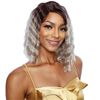 Glamourtress, wigs, weaves, braids, half wigs, full cap, hair, lace front, hair extension, nicki minaj style, Brazilian hair, crochet, hairdo, wig tape, remy hair, Mane Concept Lace Front Wig Melanin Queen MLCP202 QUEEN CRIMP