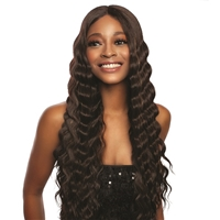 Glamourtress, wigs, weaves, braids, half wigs, full cap, hair, lace front, hair extension, nicki minaj style, Brazilian hair, crochet, hairdo, wig tape, remy hair, Mane Concept Melanin Queen Crimp Lace Wig - MLCP204 TOYA CRIMP
