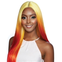 Glamourtress, wigs, weaves, braids, half wigs, full cap, hair, lace front, hair extension, nicki minaj style, Brazilian hair, crochet, hairdo, wig tape, remy hair, Mane Concept Melanin Queen Human Hair Blend Frontal Lace -RCP7040 MACARON GIRL 3