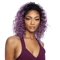 Glamourtress, wigs, weaves, braids, half wigs, full cap, hair, lace front, hair extension, nicki minaj style, Brazilian hair, crochet, hairdo, wig tape, remy hair, Mane Concept Brown Sugar Natural Hairline Human Hair Blend Lace Front Wig - BSN211 CASCADES