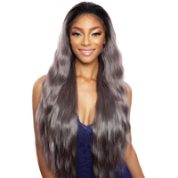 Glamourtress, wigs, weaves, braids, half wigs, full cap, hair, lace front, hair extension, nicki minaj style, Brazilian hair, crochet, hairdo, wig tape, remy hair, Mane Concept Brown Sugar Natural Hairline Human Hair Blend Lace Front Wig - BSN212 YOSEMITE