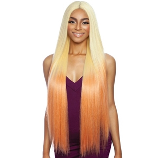 Glamourtress, wigs, weaves, braids, half wigs, full cap, hair, lace front, hair extension, nicki minaj style, Brazilian hair, crochet, hairdo, wig tape, remy hair, Mane Concept Melanin Queen Human Hair Blend Frontal Lace - MLF2901  COSMO GIRL 01