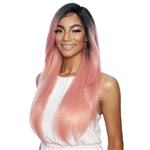 Glamourtress, wigs, weaves, braids, half wigs, full cap, hair, lace front, hair extension, nicki minaj style, Brazilian hair, crochet, hairdo, wig tape, remy hair,Mane Concept Melanin Queen Face Part Lace Part Wig - MLFV203 LUX STRAIGHT 20""