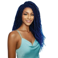 Glamourtress, wigs, weaves, braids, half wigs, full cap, hair, lace front, hair extension, nicki minaj style, Brazilian hair, crochet, hairdo, wig tape, Mane Concept Synthetic Red Carpet Inspire Braid Lace Front Wig - RCIB211 SPRING PASSION TWIST 22
