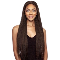 Glamourtress, wigs, weaves, braids, half wigs, full cap, hair, lace front, hair extension, nicki minaj style, Brazilian hair, crochet, hairdo, wig tape, remy hair, Mane Concept Synthetic Red Carpet Braided Lace Front Wig RCIB213 MINI MICRO SENEGAL TWIST32