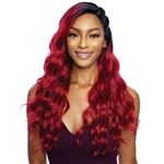 Glamourtress, wigs, weaves, braids, half wigs, full cap, hair, lace front, hair extension, nicki minaj style, Brazilian hair, crochet, hairdo, wig tape, remy hair, Mane Concept Red Carpet 3 Way Part Cornrow Braid Lace Front Wig - RCCR202 DOUBLE SIDE