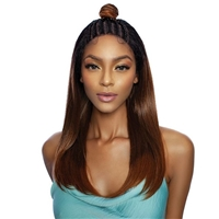 Glamourtress, wigs, weaves, braids, half wigs, full cap, hair, lace front, hair extension, nicki minaj style, Brazilian hair, crochet, hairdo, wig tape, remy hair, Mane Concept Red Carpet Top Knot Braid Lace Wig - RCTB205 BRAIDED TOP KNOT