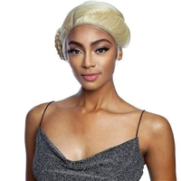 Glamourtress, wigs, weaves, braids, half wigs, full cap, hair, lace front, hair extension, nicki minaj style, Brazilian hair, crochet, hairdo, wig tape, remy hair, Lace Front Wigs, Mane Concept Synthetic Red Carpet Crown Braid Lace Front Wig RCCB04 PEONY