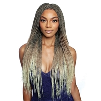 Glamourtress, wigs, weaves, braids, half wigs, full cap, hair, lace front, hair extension, nicki minaj style, Brazilian hair, crochet, hairdo, wig tape, remy hair, Mane Concept Red Carpet Inspire Braid Lace Front Wig - RCIB102 MICRO SENEGAL TWIST28