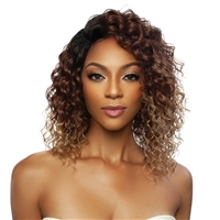 Glamourtress, wigs, weaves, braids, half wigs, full cap, hair, lace front, hair extension, nicki minaj style, Brazilian hair, crochet, hairdo, wig tape, remy hair, Mane Concept Red Carpet Wet Wave HD Lace Front Wig - RCHW203 BRINY