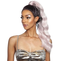 Glamourtress, wigs, weaves, braids, half wigs, full cap, hair, lace front, hair extension, nicki minaj style, Brazilian hair, crochet, hairdo, wig tape, remy hair, Mane Concept Synthetic Red Carpet Genie Pony Baby Hair Lace Front Wig - RCGP02 - GABBIE
