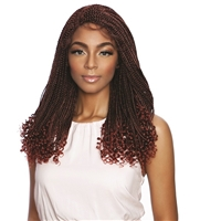 "Glamourtress, wigs, weaves, braids, half wigs, full cap, hair, lace front, hair extension, nicki minaj style, Brazilian hair, crochet, hairdo, wig tape, remy hair, Mane Concept Red Carpet Inspire Braid 5"" Deep Lace Part Lace Wig RCIB203 - Curly Ends Box B"