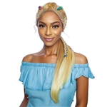 Glamourtress, wigs, weaves, braids, half wigs, full cap, hair, lace front, hair extension, nicki minaj style, Brazilian hair, crochet, hairdo, wig tape, remy hair, Mane Concept Red Carpet Statement Braid Lace Front Wig - RCST204 STRING BRAID PONY