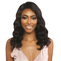Glamourtress, wigs, weaves, braids, half wigs, full cap, hair, lace front, hair extension, nicki minaj style, Brazilian hair, crochet, hairdo, Mane Concept Trill 100% Unprocessed Human Hair 11A HD Rotate Part Lace Front Wig - TRMR202 LOOSE BODY 18