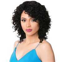 Glamourtress, wigs, weaves, braids, half wigs, full cap, hair, lace front, hair extension, nicki minaj style, Brazilian hair, crochet, hairdo, wig tape, remy hair, Lace Front Wigs, It's A Wig 100% Human Hair Wig - HH WET N WAVY RANA