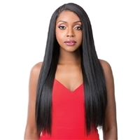 Glamourtress, wigs, weaves, braids, half wigs, full cap, hair, lace front, hair extension, nicki minaj style, Brazilian hair, crochet, hairdo, wig tape, remy hair, Lace Front Wigs, It's A Wig Synthetic T-Braided Part Lace Front Wig - CANDELA