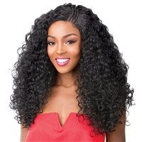 Glamourtress, wigs, weaves, braids, half wigs, full cap, hair, lace front, hair extension, nicki minaj style, Brazilian hair, crochet, hairdo, wig tape, remy hair, Lace Front Wigs, It's A Wig Synthetic T-Braided Part Lace Front Wig - KANDEE