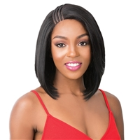 Glamourtress, wigs, weaves, braids, half wigs, full cap, hair, lace front, hair extension, nicki minaj style, Brazilian hair, crochet, hairdo, wig tape, remy hair, Lace Front Wigs, It's A Wig Synthetic T-Braided Part Lace Front Wig - MALIBU