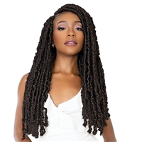 Glamourtress, wigs, weaves, braids, half wigs, full cap, hair, lace front, hair extension, nicki minaj style, Brazilian hair, crochet, hairdo, wig tape, remy hair, Janet Collection Nala Tress Crochet Braid - POETRY LOCS 24