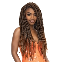 Glamourtress, wigs, weaves, braids, half wigs, full cap, hair, lace front, hair extension, nicki minaj style, Brazilian hair, crochet, hairdo, wig tape, remy hair, Janet Collection Nala Tress Crochet Braid - 2X XL BORN LOCS 22""