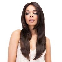 Glamourtress, wigs, weaves, braids, half wigs, full cap, hair, lace front, hair extension, nicki minaj style, Brazilian hair, crochet, hairdo, wig tape, remy hair, Janet Collection 100% Virgin Remy Human Hair Deep Part Lace Wig - YAKY STRAIGHT 20