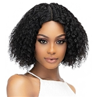 Glamourtress, wigs, weaves, braids, half wigs, full cap, hair, lace front, hair extension, nicki minaj style, Brazilian hair, crochet, hairdo, wig tape, remy hair, Janet Collection Luscious Wet & Wavy 100% Natural Virgin Remy Indian Hair Lace Wig - ADA