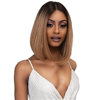 Glamourtress, wigs, weaves, braids, half wigs, full cap, hair, lace front, hair extension, nicki minaj style, Brazilian hair, crochet, hairdo, wig tape, remy hair, Janet Collection Synthetic Melt Extended Deep HD Part Lace Wig - ASIA