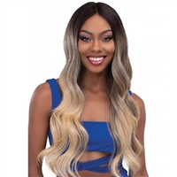 Glamourtress, wigs, weaves, braids, half wigs, full cap, hair, lace front, hair extension, nicki minaj style, Brazilian hair, crochet, hairdo, wig tape, remy hair, Janet Collection Synthetic Melt Extended Deep HD Part Lace Wig - BELLA