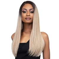 Glamourtress, wigs, weaves, braids, half wigs, full cap, hair, lace front, hair extension, nicki minaj style, Brazilian hair, crochet, hairdo, wig tape, remy hair, Janet Collection Synthetic Melt Extended Deep HD Part Lace Wig - BISA