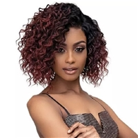 Glamourtress, wigs, weaves, braids, half wigs, full cap, hair, lace front, hair extension, nicki minaj style, Brazilian hair, crochet, hairdo, wig tape, remy hair, Janet Collection Synthetic Melt Extended Deep HD Part Lace Wig - DEJA