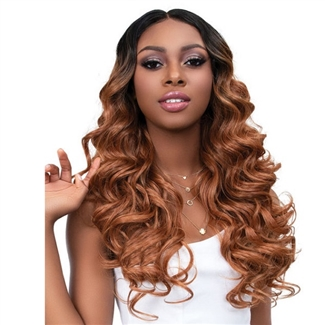 Glamourtress, wigs, weaves, braids, half wigs, full cap, hair, lace front, hair extension, nicki minaj style, Brazilian hair, crochet, hairdo, wig tape, remy hair, Janet Collection Synthetic Melt Extended Deep HD Part Lace Wig - JADA