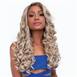 Glamourtress, wigs, weaves, braids, half wigs, full cap, hair, lace front, hair extension, nicki minaj style, Brazilian hair, crochet, hairdo, wig tape, remy hair, Janet Collection Synthetic Melt Extended Deep Part Lace Wig - JULIE