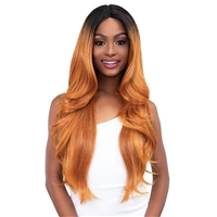 Glamourtress, wigs, weaves, braids, half wigs, full cap, hair, lace front, hair extension, nicki minaj style, Brazilian hair, crochet, hairdo, wig tape, remy hair, Janet Collection Synthetic Extended Deep Part Lace Wig - JUNNY