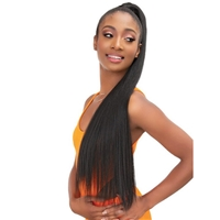 Glamourtress, wigs, weaves, braids, half wigs, full cap, hair, lace front, hair extension, nicki minaj style, Brazilian hair, crochet, hairdo, wig tape, remy hair, Lace Front Wigs, Remy Hair, Janet Collection ESSENTIALS Snatch & Wrap Pony Wrap Straight 24