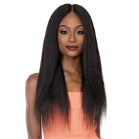 Glamourtress, wigs, weaves, braids, half wigs, full cap, hair, lace front, hair extension, nicki minaj style, Brazilian hair, crochet, hairdo, wig tape, remy hair,  Janet Collection 100% Natural Human Hair Deep Part HD Lace Wig - PERM YAKY