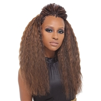 "Glamourtress, wigs, weaves, braids, half wigs, full cap, hair, lace front, hair extension, nicki minaj style, Brazilian hair, crochet, hairdo, wig tape, remy hair, Lace Front Wigs, Janet Collection 100% Human Hair Braid Super French Bulk 18"" 2PCS"