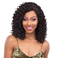 Glamourtress, wigs, weaves, braids, half wigs, full cap, hair, lace front, hair extension, nicki minaj style, Brazilian hair, crochet, hairdo, wig tape, remy hair, Janet Collection 100% Virgin Remy Human Hair Natural Deep Part Lace Wig - BOHEMIAN 16